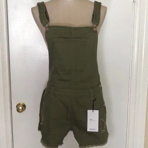 Forever21 Olive Overalls SZ 27